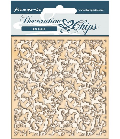 FORMES CARTON DECORATIVE CHIPS WINTER TALES RAMAGE 14X14CM - SCB65