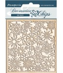 FORMES CARTON DECORATIVE CHIPS WINTER TALES SNOWFLAKES 14X14CM - SCB64