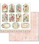 BLOC 10 FEUILLES PINK CHRISTMAS 15.24X15.24CM - SBBXS07 STAMPERIA