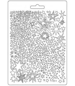 MOULE PVC FLEXIBLE CHRISTMAS PATCHWORK - STARS - K3PTA584
