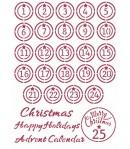 POCHOIR CHRISTMAS PATCHWORK ADVENT 21X29.7CM KSG475