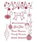 POCHOIR CHRISTMAS PATCHWORK BALLS 21X29.7CM KSG474