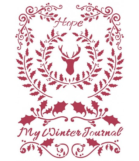 POCHOIR WINTER TALES HOPE 21X29.7CM KSG479