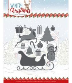 DIES WINTRY CHRISTMAS - HO, HO, HO SNOWMAN YCD10248