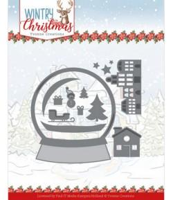 DIES WINTRY CHRISTMAS - SNOWMAN IN SNOW GLOBE YCD10247