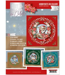 KIT COMPLET FEUILLES 3D WINTRY CHRISTMAS COLOUR 12