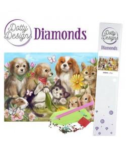 KIT DIAMOND PAINTING ANIMAUX 29.7X42CM DDD1030