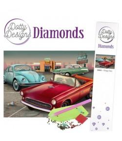KIT DIAMOND PAINTING VINTAGE CARS 29.7X42CM DDD1035