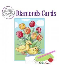 MINI KIT CARTE DIAMONDS CANARDS 10X15CM DDDC1022
