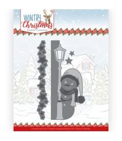 DIES WINTRY CHRISTMAS - PEEK A BOO SNOWMAN YCD10245