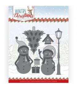 DIES WINTRY CHRISTMAS -  SNOW FRIENDS YCD10244