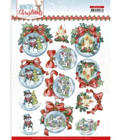 FEUILLE 3D WINTRY CHRISTMAS CD11711