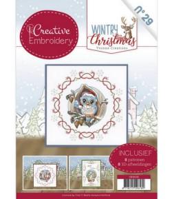 LIVRET CADRES A BRODER ET MOTIFS 3D WINTRY CHRISTMAS CB10029