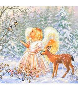 SERVIETTE  WINTER ANGEL