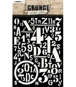 POCHOIR GRUNGE - MASK13