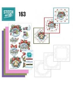 KIT 3D A BRODER WINTRY CHRISTMAS - STITCH AND DO - STDO163