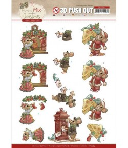 FEUILLE 3D HAVE A MICE CHRISTMAS - SB10584