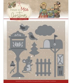 DIES HAVE A MICE CHRISTMAS - MOUSE LETTERS YCD10251