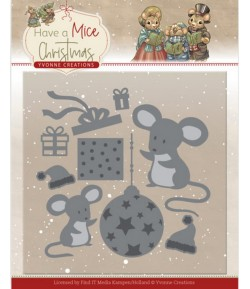 DIES HAVE A MICE CHRISTMAS - MOUSE GIFT YCD10252