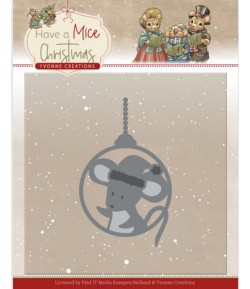 DIE HAVE A MICE CHRISTMAS - MOUSE BAUBLE YCD10253