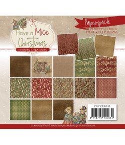 BLOC 22 FEUILLES 15 X 15 CM - HAVE A MICE CHRISTMAS YCPP10039