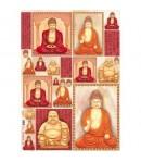 PAPIER DECOUPAGE BUDDHA 50 X 70 CM