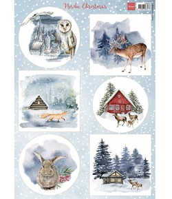 FEUILLE  NORDIC CHRISTMAS - VK9593 - MARIANNE DESIGN
