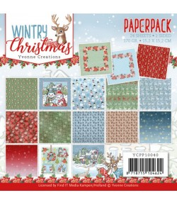 BLOC 22 FEUILLES 15 X 15 CM - WINTRY CHRISTMAS YCPP10040