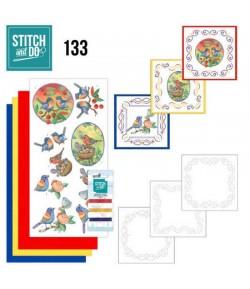 KIT 3D A BRODER BLUE BIRDS STDO133
