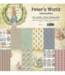 BLOC 12 FEUILLES 30.5 X 30.5 CM - PETER'S WORLD