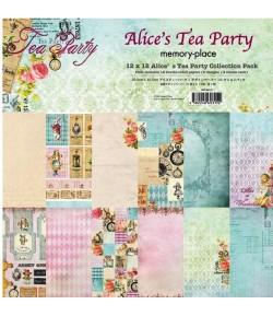 BLOC 12 FEUILLES 30.5 X 30.5 CM - ALICE'S TEA PARTY
