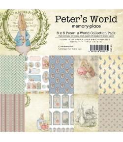 BLOC 12 FEUILLES 15.2  X 15.2 CM - PETER'S WORLD