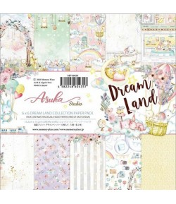 BLOC 12 FEUILLES 15.2  X 15.2 CM - DREAM LAND - ASUKA STUDIO