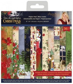 BLOC 36 FEUILLES 30.5 X 30.5 CM - TWAS THE NIGHT BEFORE CHRISTMAS