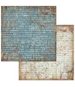 PAPIER MECHANICAL FANTASY WRITINGS 30 X 30 CM - SBB612 STAMPERIA