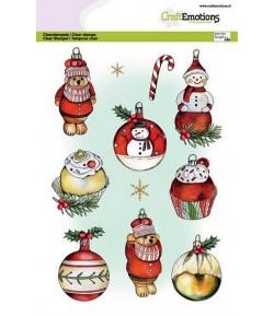 TAMPONS CHRISTMAS BALLS SNOWMAN - A5