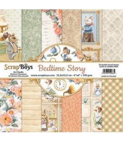 BLOC 24 FEUILLES 15 X 15 CM -  BEDTIME STORY
