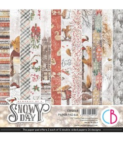 BLOC 24 FEUILLES MEMORIES OF A SNOWY DAY CIAO BELLA 15X15CM CBQ048