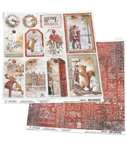 PAPIER MEMORIES OF A SNOWY DAY CIAO BELLA 30.5X30.5CM HOLIDAYS CBSS165