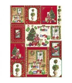 PAPIER DECOUPAGE CHRISTMAS 50 X 70 CM DFG365