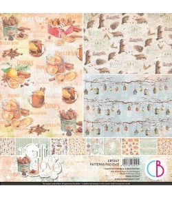 BLOC 8 FEUILLES THE GIFT OF LOVE CIAO BELLA 30X30CM CBT047