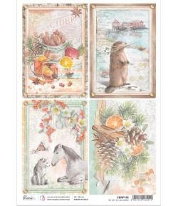 PAPIER DE RIZ A4 THE GIFT OF LOVE CARDS 21 X 29.7CM CIAO BELLA CBRP195