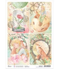 PAPIER DE RIZ A4 THE LITTLE PRINCE CARDS 21 X 29.7CM CIAO BELLA CBRP207