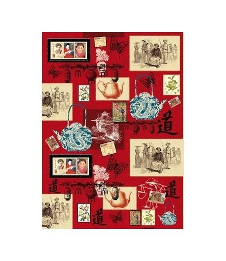 PAPIER DECOUPAGE IMAGES ASIATIQUES 50 X 70 CM