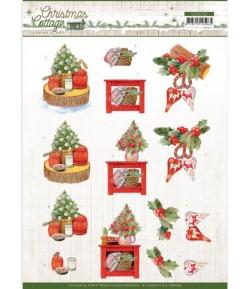 FEUILLE 3D CHRISTMAS DECORATION CD11722