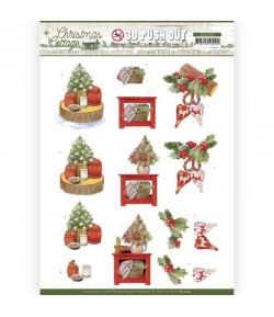 FEUILLE 3D CHRISTMAS COTTAGE - SB10590