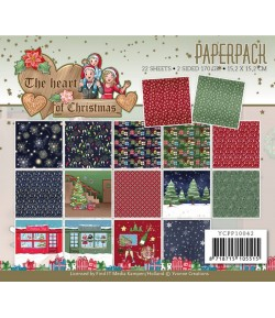 BLOC 22 FEUILLES 15 X 15 CM - THE HEART OF CHRISTMAS YCPP10042