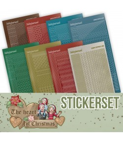 LOT 8 STICKERS DOT AND DO THE HEART OF CHRISTMAS CHSTS019