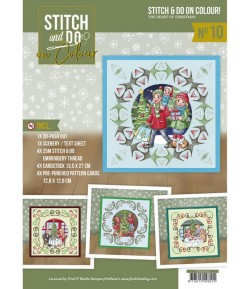 KIT STITCH AND DO FEUILLES 3D THE HEART OF CHRISTMAS COLOUR 10