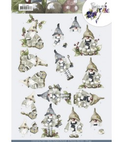 FEUILLE 3D CHRISTMAS GNOME - CD11441